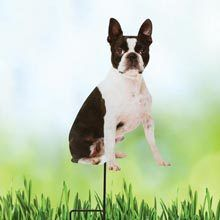 Boston Terrier Best Friend Yard Stake