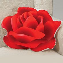 Rose-Shaped Pillow