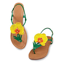 Yellow Orchid Sandals