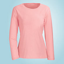 The Classic Long Sleeve Cotton Tee - Pink