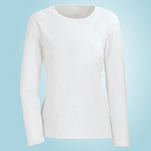 The Classic Long Sleeve Cotton Tee - White