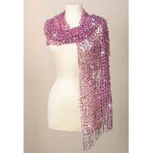 Pink Sequined Scarf