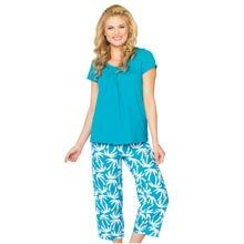 Tropical Capri Pant Set - Aqua