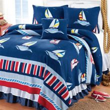 Ships Ahoy Fleece Blankets & Accessories