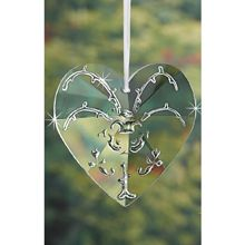Scrollwork Crystal Heart Ornament