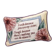 I Smile Pillow - Sister