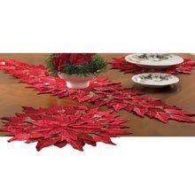 Poinsettia Placemats-Set of 4