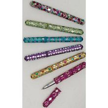 Set of 6-Hand-Beaded Glitter Pens