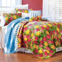 Field of Tulips Fleece Blankets & Accessories