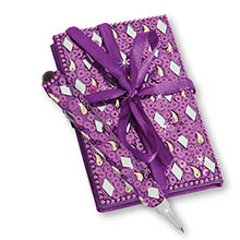 Purple Bejeweled Notebook & Pen Set