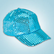 Aqua Sequined Glamour Cap