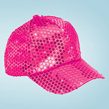 Pink Sequined Glamour Cap