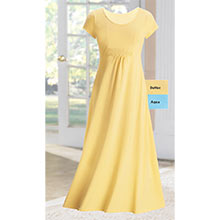 Full & Flowy Comfort Dress  - Butter