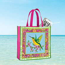 Colorful Hummingbird Tote