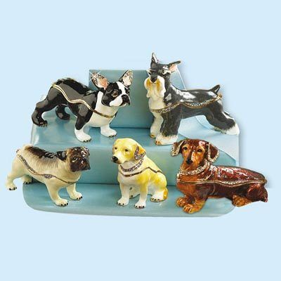 Razzle-Dazzle Dog Trinket Boxes