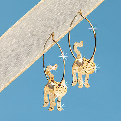 Swinging Kitty Earrings