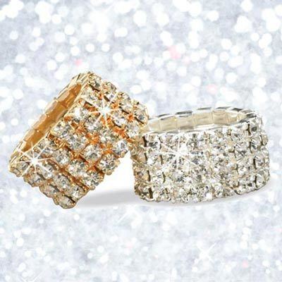 Crystal Stretch Rings