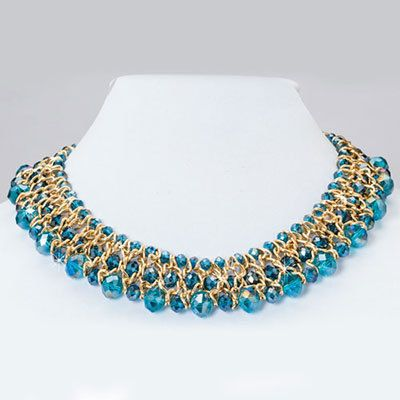 Shimmering Aqua Necklace