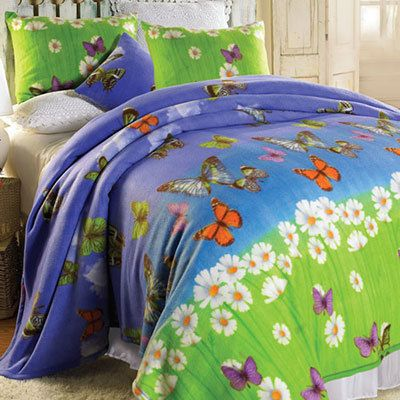 Butterfly Meadow Fleece Blankets & Accessories