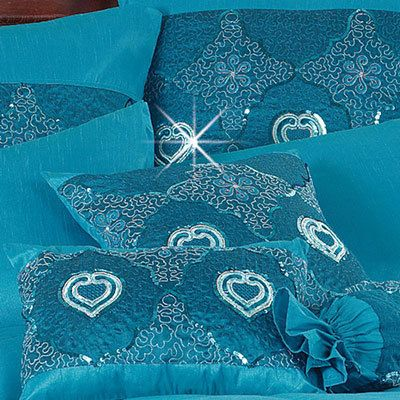 Blue Shimmering Nights Glamorous Sequin Accessories