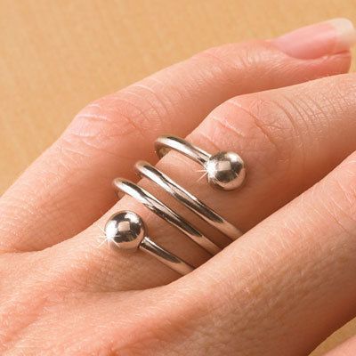 Silver Tone Weight Loss Ring