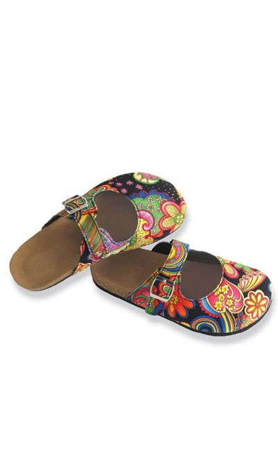 Black Paisley Clogs