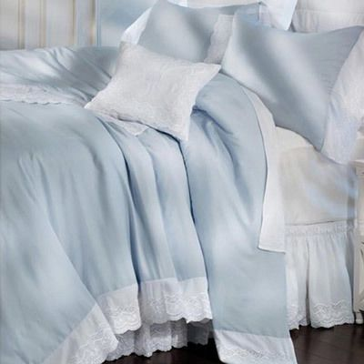 Whisper Blue Royal Lace Duvet Cover & Accessory