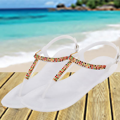 Colorful Crystal Sandals