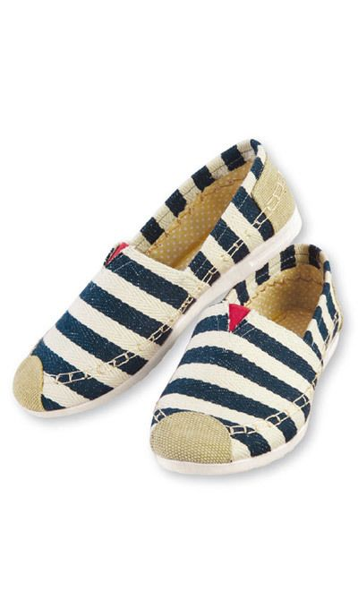 Blue-Striped Loafers