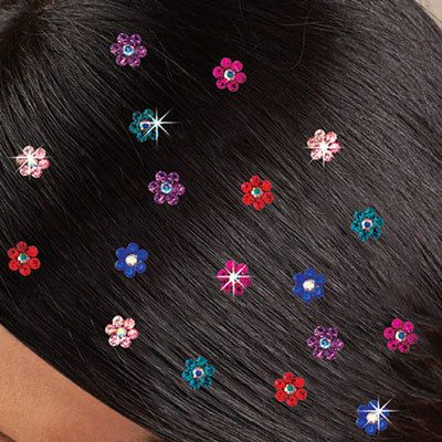 Crystal Flower Hair Accents