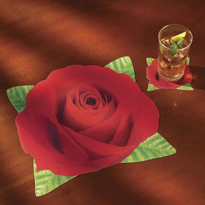 Realistic Rose Placemats & Coasters