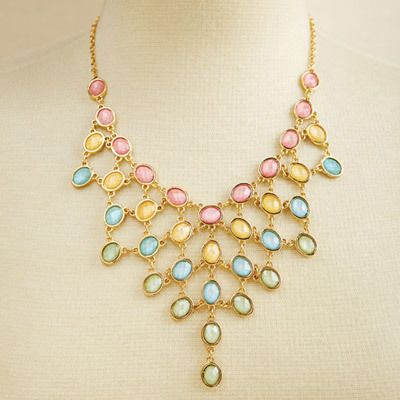 Tiered Pastel Rainbow Necklace