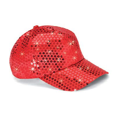 Red Sequined Glamour Cap