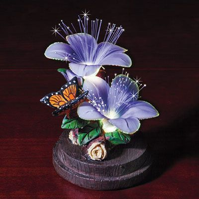 Fiber Optic Butterfly Figurine