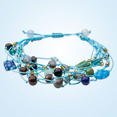 Colorful Cluster Beaded Bracelet