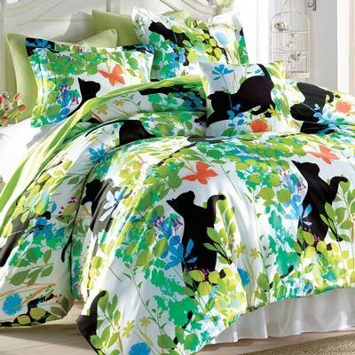 Cats in the Garden Duvet Cover & Accessories