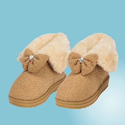 Fuzzy Bow Boots