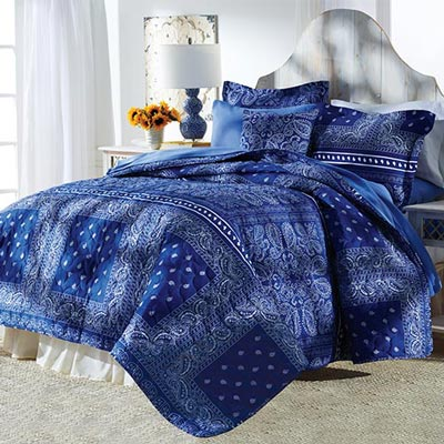 Bandana Blues Quilt & Accessories