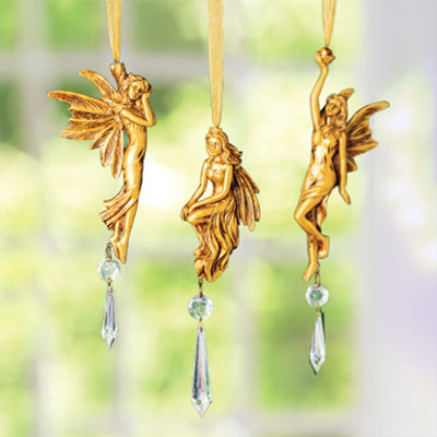 Victorian Angel Suncatchers - Set of 3