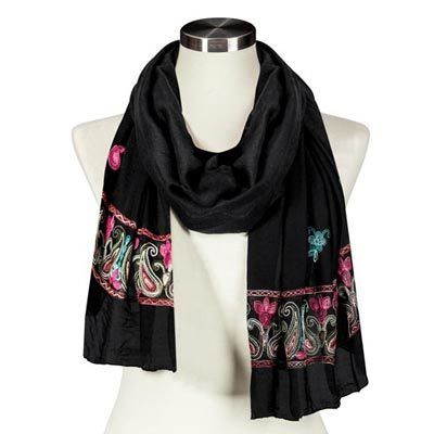 Beautiful Embroidered Scarf