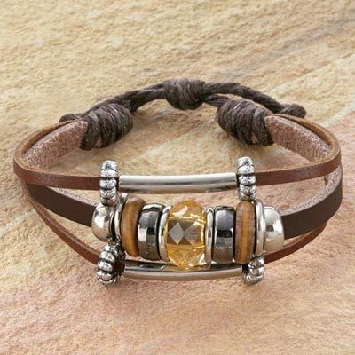 Beaded Leather Bracelet