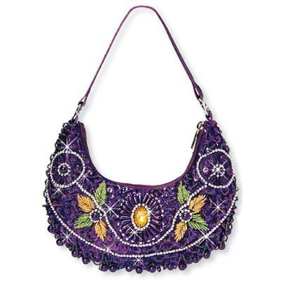 Beaded Floral Purse