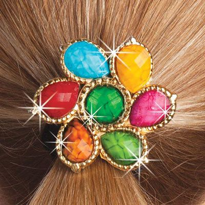 Colorful Medallion Scrunchie