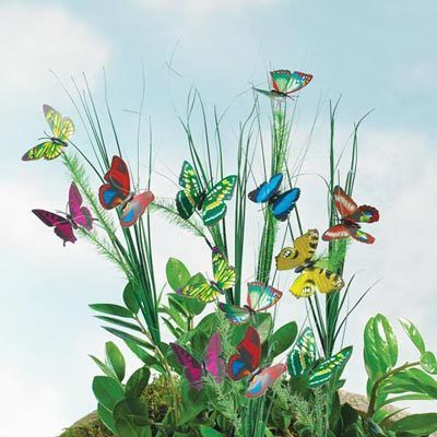 Fluttering Butterfly Stakes - Set of 4