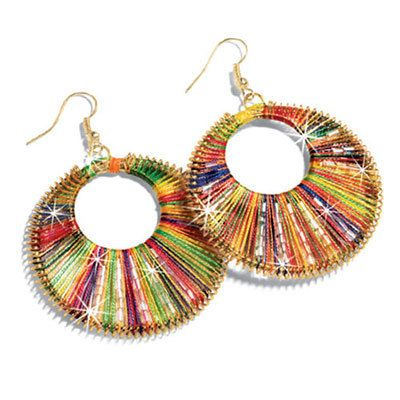Rainbow Woven Earrings