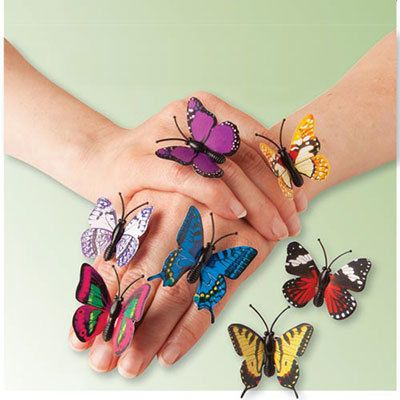 Enchanting Butterfly Rings - Set of 7