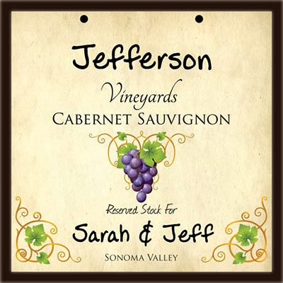 Personalized Vino Plaque