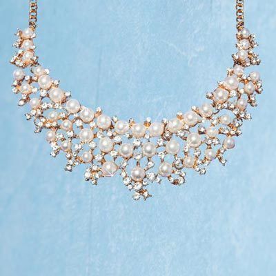Royal Faux Pearl & Crystal Necklace