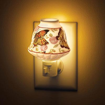 Butterflies in Flight Ceramic Atomizer Nightlight
