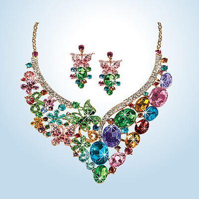 Bejeweled Butterfly Jewelry Set